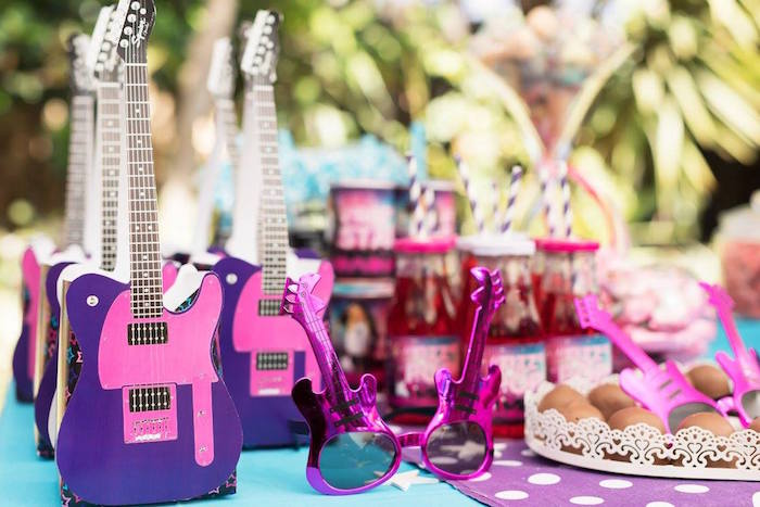 Rock Star Party Table + Favors from a Rock Star Birthday Party on Kara's Party Ideas | KarasPartyIdeas.com (21)