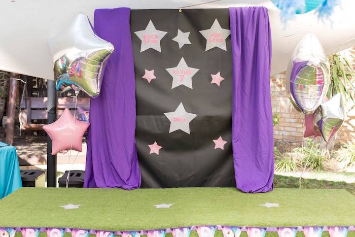 Rock Star Stage from a Rock Star Birthday Party on Kara's Party Ideas | KarasPartyIdeas.com (18)