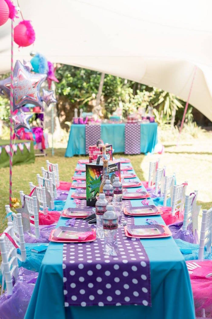 Rock Star Guest Tablescape from a Rock Star Birthday Party on Kara's Party Ideas | KarasPartyIdeas.com (16)