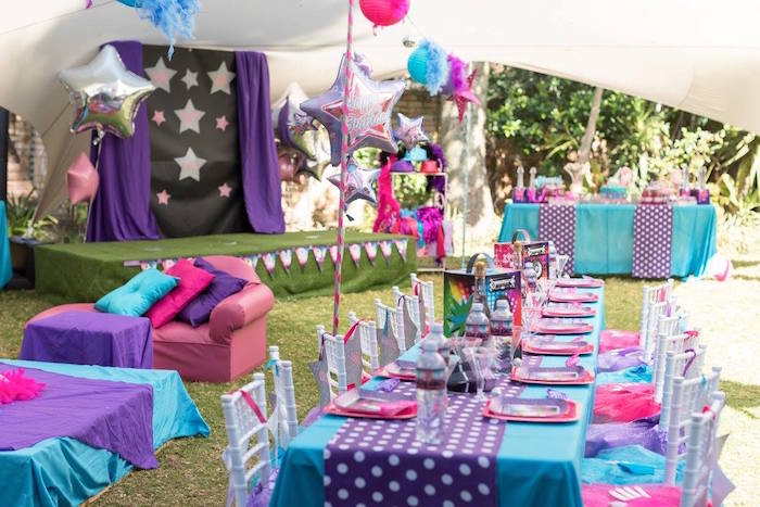 Rock Star Guest Tablescape from a Rock Star Birthday Party on Kara's Party Ideas | KarasPartyIdeas.com (15)