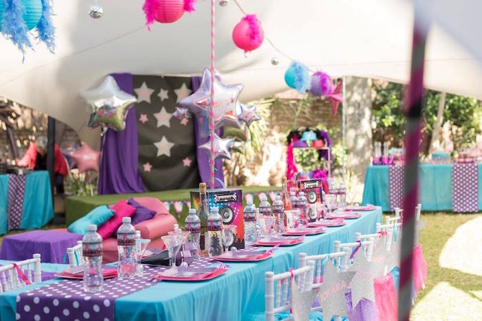 Rock Star Guest Tablescape from a Rock Star Birthday Party on Kara's Party Ideas | KarasPartyIdeas.com (14)