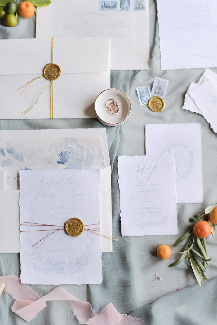 Stationery from a Romantic French Inspired Wedding on Kara's Party Ideas | KarasPartyIdeas.com (24)