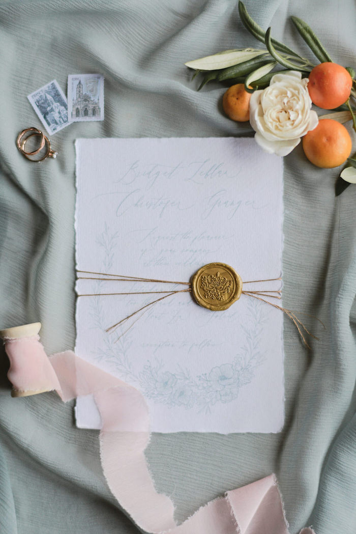 Stationery from a Romantic French Inspired Wedding on Kara's Party Ideas | KarasPartyIdeas.com (23)