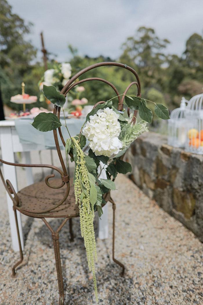 Garden Chair from a Romantic French Inspired Wedding on Kara's Party Ideas | KarasPartyIdeas.com (21)