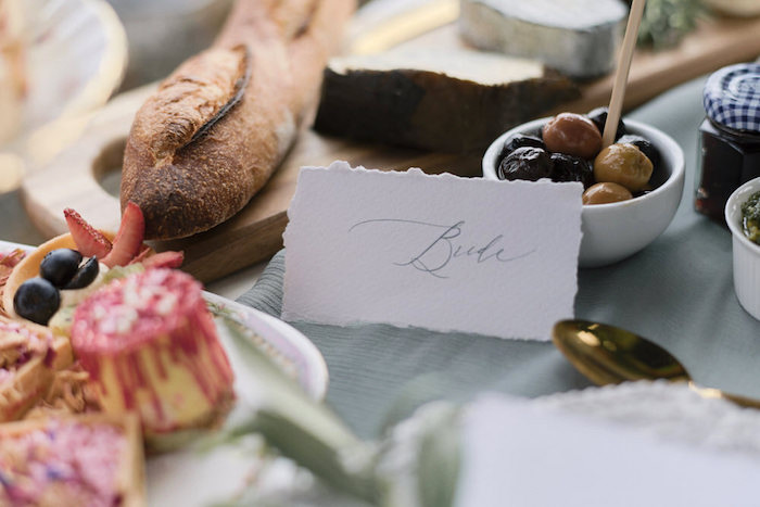 Place Card from a Romantic French Inspired Wedding on Kara's Party Ideas | KarasPartyIdeas.com (20)