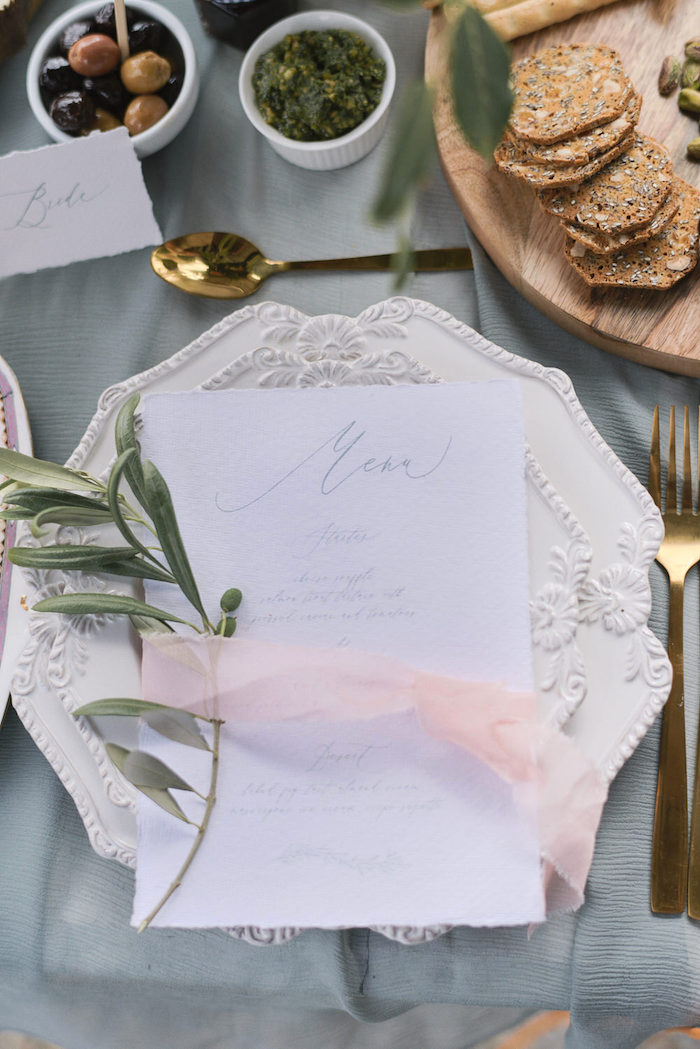 Romantic Table Setting from a Romantic French Inspired Wedding on Kara's Party Ideas | KarasPartyIdeas.com (19)