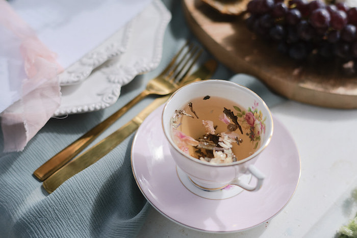 Tea Cup from a Romantic French Inspired Wedding on Kara's Party Ideas | KarasPartyIdeas.com (14)