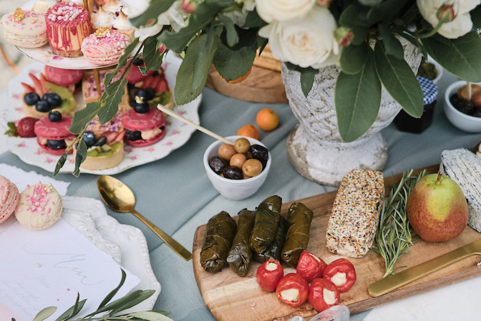 Charcuterie Plate from a Romantic French Inspired Wedding on Kara's Party Ideas | KarasPartyIdeas.com (9)