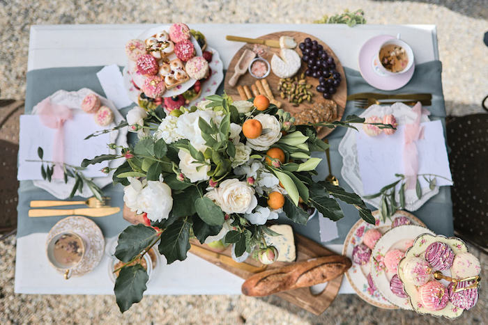 Dining Tabletop from a Romantic French Inspired Wedding on Kara's Party Ideas | KarasPartyIdeas.com (6)
