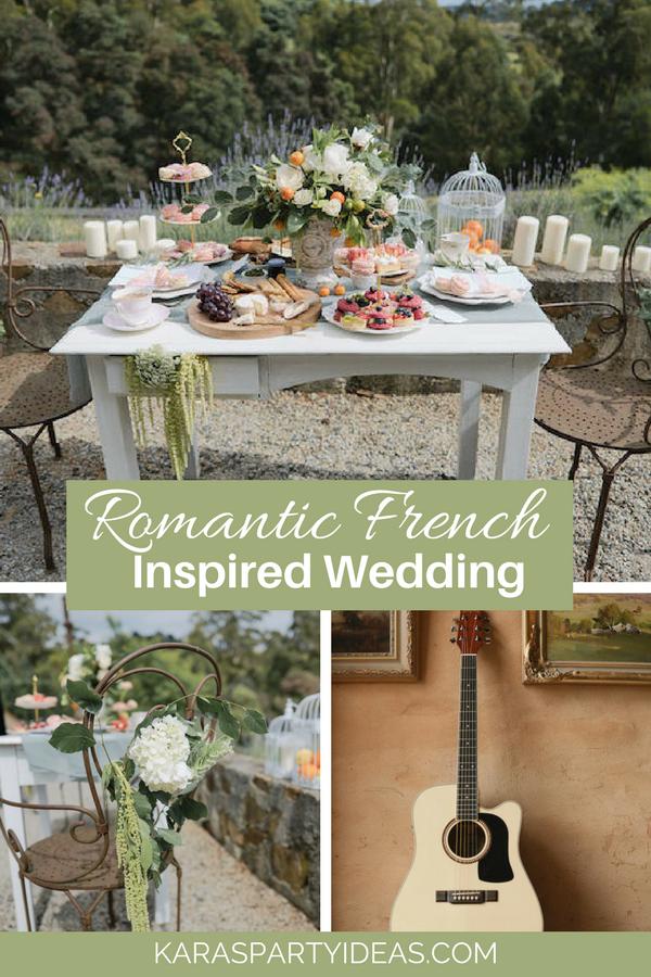 Romantic French Inspired Wedding via Kara's Party Ideas - KarasPartyIdeas.com