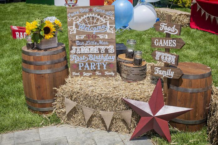 Rustic County Fair Birthday Party on Kara's Party Ideas | KarasPartyIdeas.com (29)