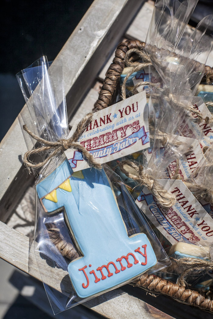 Favor Cookie from a Rustic County Fair Birthday Party on Kara's Party Ideas | KarasPartyIdeas.com (23)