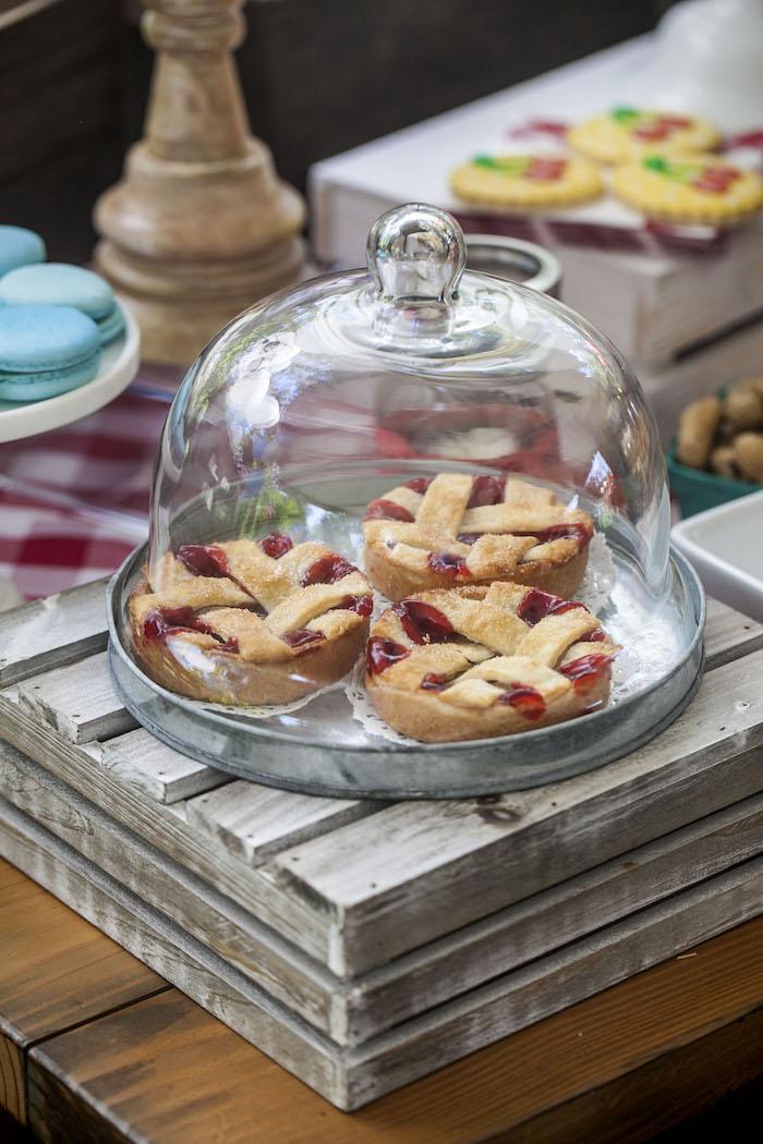 Mini Pies from a Rustic County Fair Birthday Party on Kara's Party Ideas | KarasPartyIdeas.com (17)