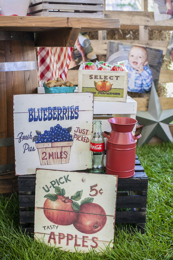Signage from a Rustic County Fair Birthday Party on Kara's Party Ideas | KarasPartyIdeas.com (16)