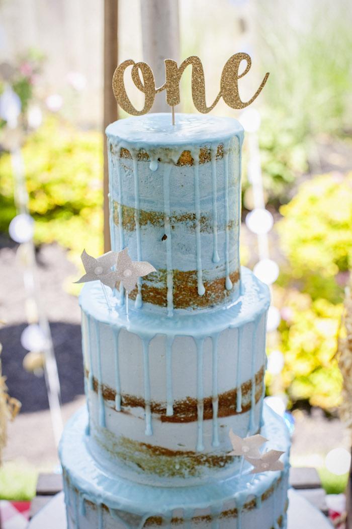 Drip Cake from a Rustic County Fair Birthday Party on Kara's Party Ideas | KarasPartyIdeas.com (14)