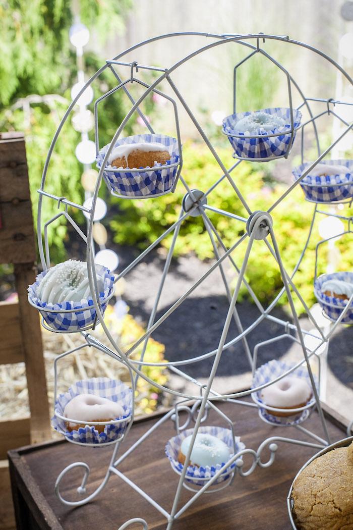 Cupcake Carousel from a Rustic County Fair Birthday Party on Kara's Party Ideas | KarasPartyIdeas.com (12)