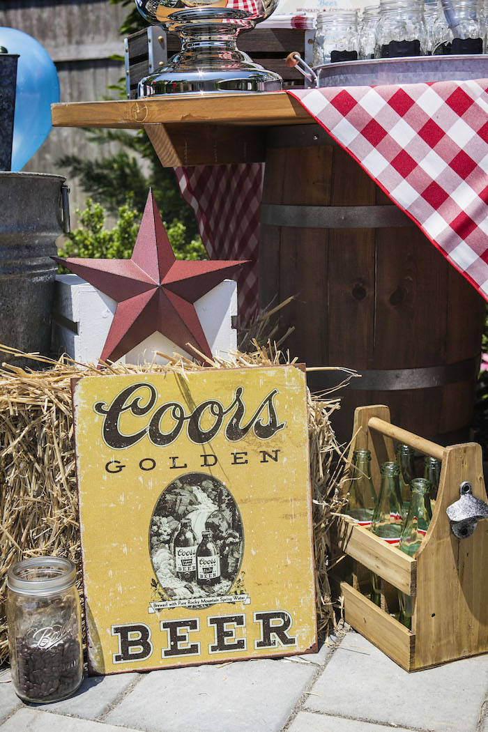 Signage + Decor from a Rustic County Fair Birthday Party on Kara's Party Ideas | KarasPartyIdeas.com (36)