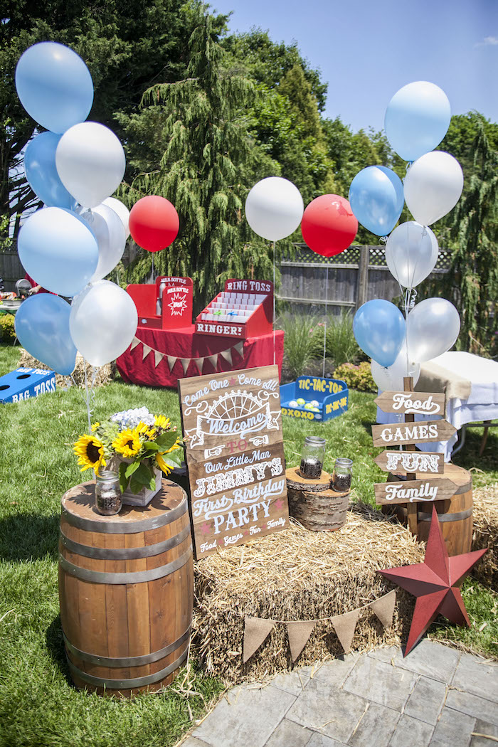 Welcome Decor from a Rustic County Fair Birthday Party on Kara's Party Ideas | KarasPartyIdeas.com (34)
