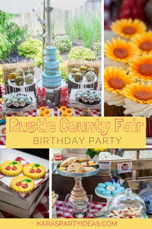 Rustic County Fairy Birthday Party via Kara's Party Ideas - KarasPartyIdeas.com