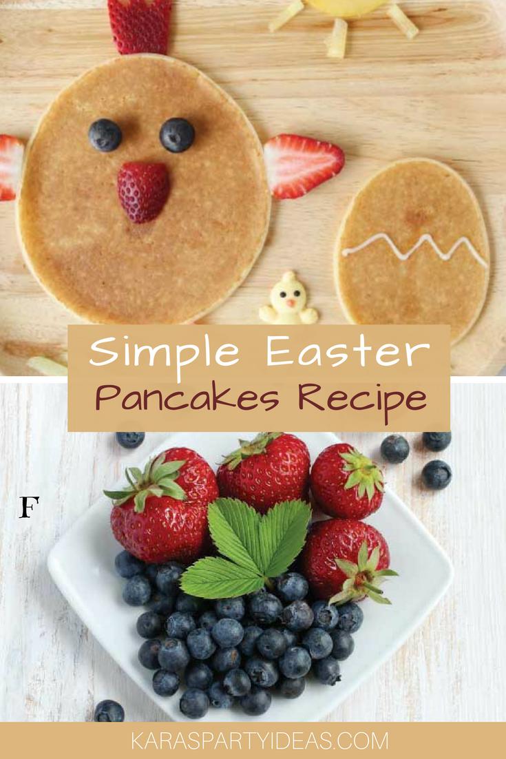 Simple Easter Pancake Recipe via Kara's Party Ideas - KarasPartyIdeas.com
