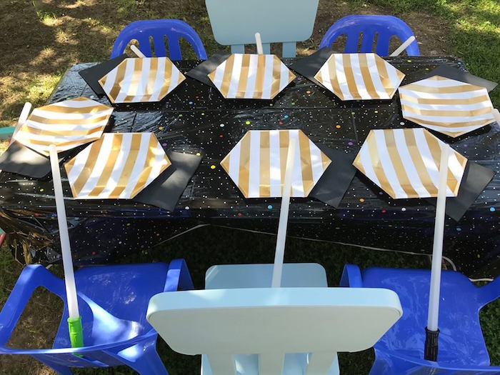 Kid Table from a Star Wars Birthday Party on Kara's Party Ideas | KarasPartyIdeas.com (15)