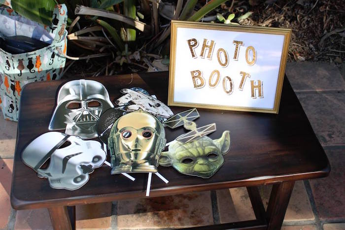Star Wars Photo Booth from a Star Wars Birthday Party on Kara's Party Ideas | KarasPartyIdeas.com (12)