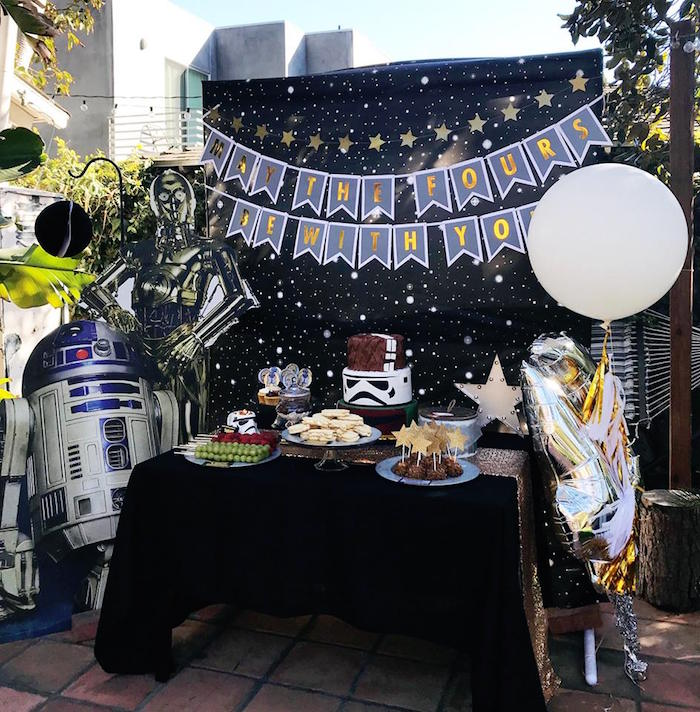 Star Wars Dessert Table from a Star Wars Birthday Party on Kara's Party Ideas | KarasPartyIdeas.com (11)