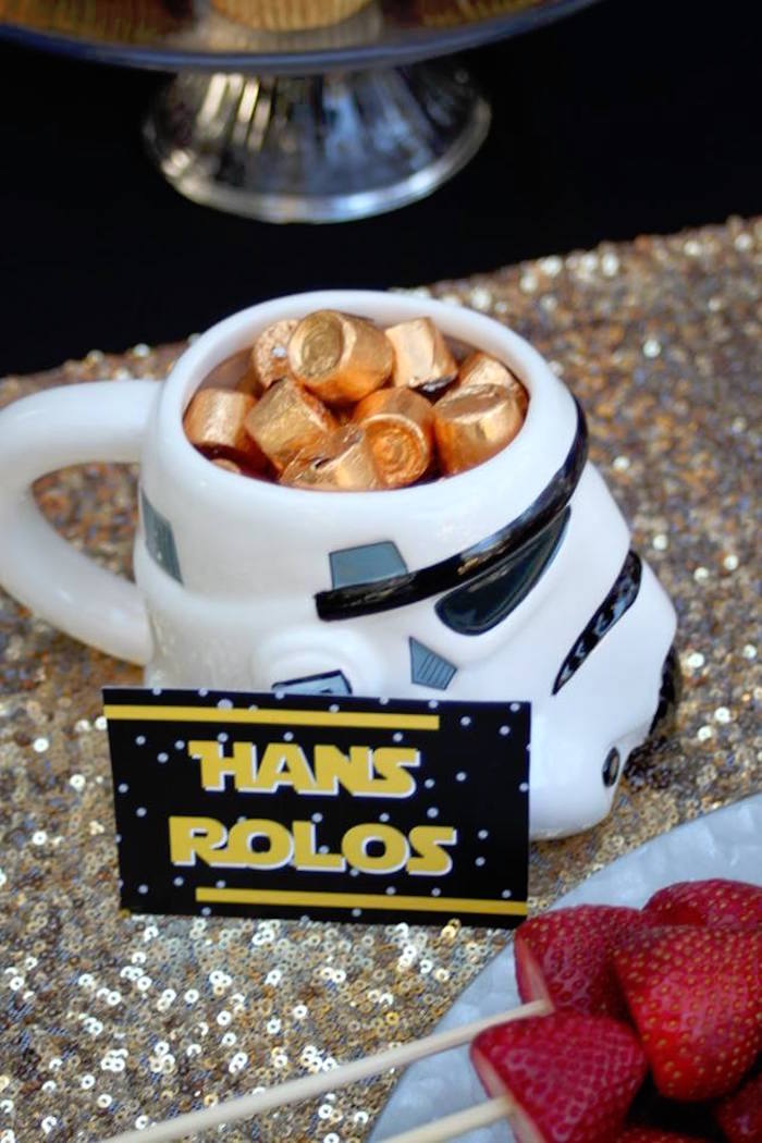 Hans Rolos from a Star Wars Birthday Party on Kara's Party Ideas | KarasPartyIdeas.com (9)