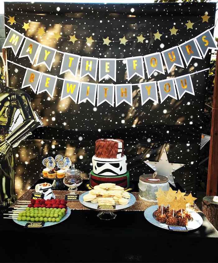 Star Wars Dessert Table from a Star Wars Birthday Party on Kara's Party Ideas | KarasPartyIdeas.com (3)