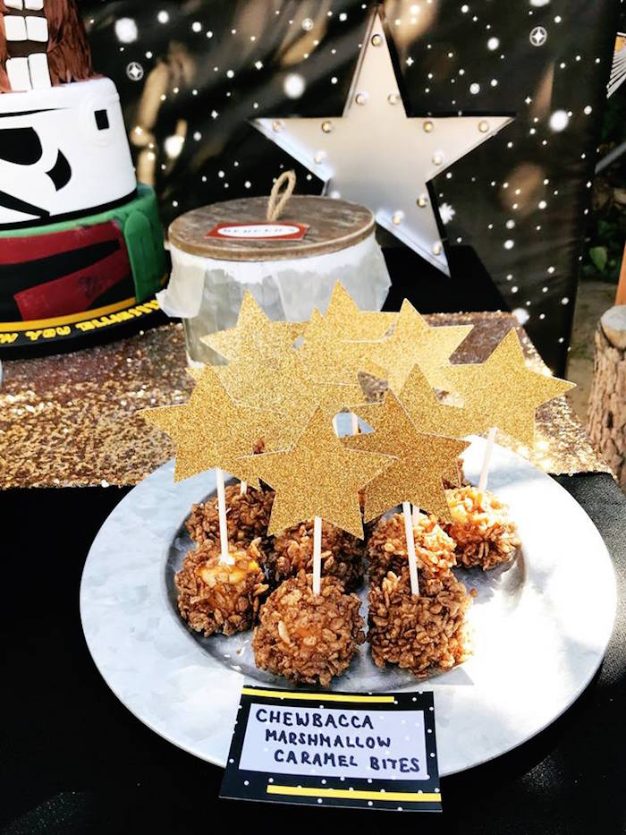 Chewbacca Bites from a Star Wars Birthday Party on Kara's Party Ideas | KarasPartyIdeas.com (23)