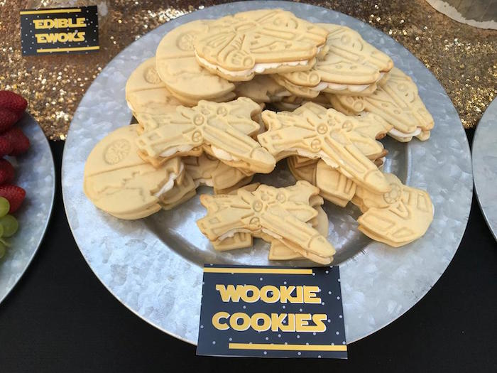 Wookie Cookies from a Star Wars Birthday Party on Kara's Party Ideas | KarasPartyIdeas.com (22)
