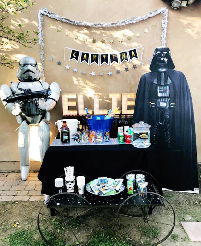 Star Wars Beverage Table from a Star Wars Birthday Party on Kara's Party Ideas | KarasPartyIdeas.com (18)