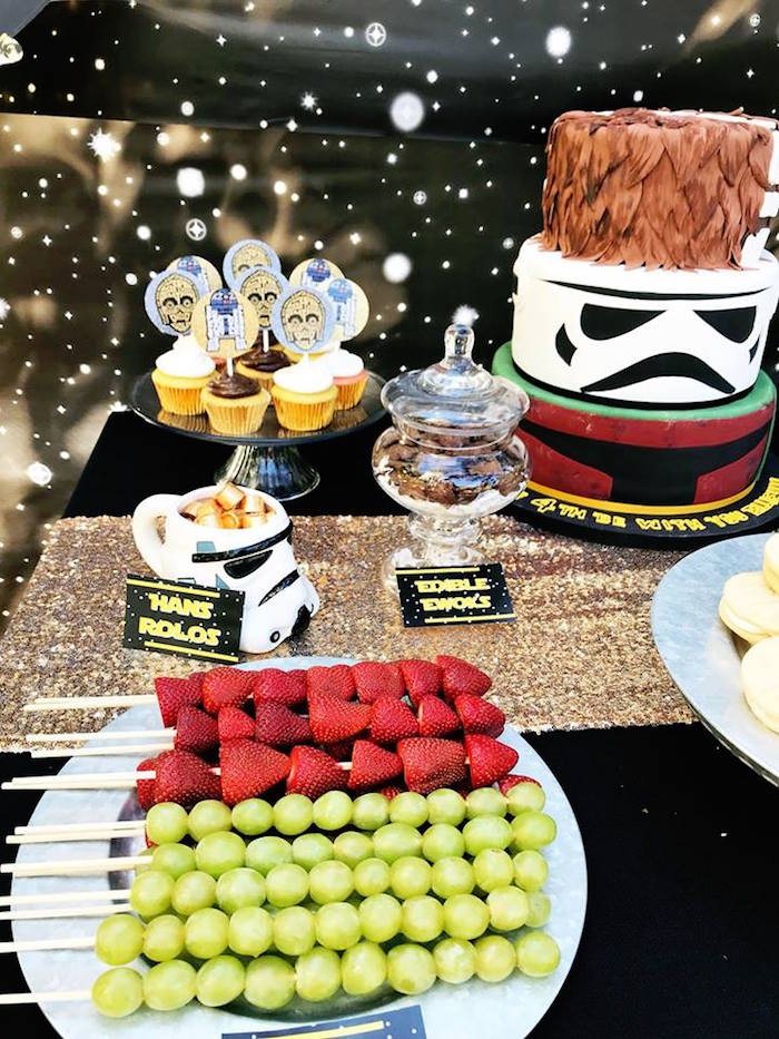 Star Wars Table Details from a Star Wars Birthday Party on Kara's Party Ideas | KarasPartyIdeas.com (17)