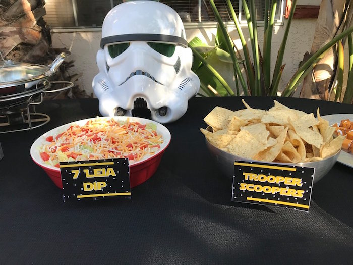 7 Leia Dip & Scooper Trooper Chips from a Star Wars Birthday Party on Kara's Party Ideas | KarasPartyIdeas.com (16)