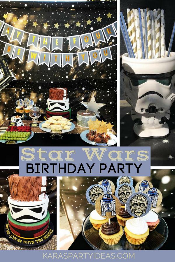 Star Wars Birthday Party via Kara's Party Ideas - KarasPartyIdeas.com