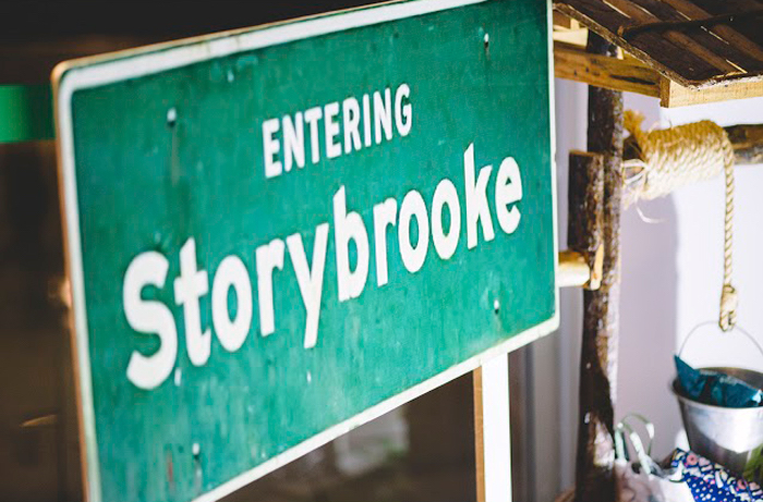 "Storybrook Street Sign from ABC's ""Once Upon a Time"" Inspired Birthday Party on Kara's Party Ideas 