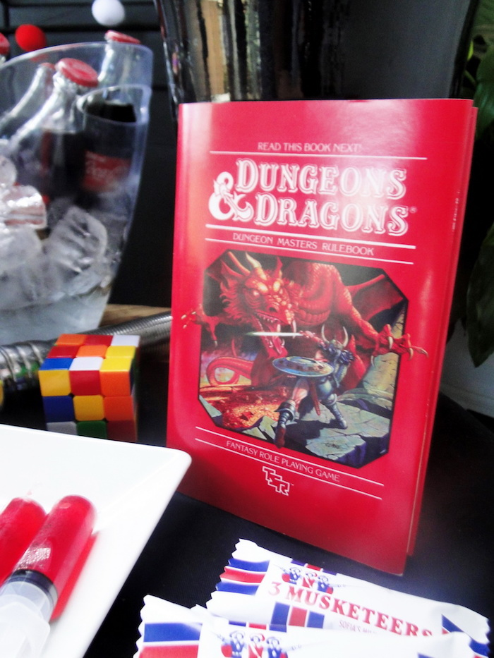 Dungeons & Dragons from a Stranger Things Inspired Birthday Party on Kara's Party Ideas | KarasPartyIdeas.com (27)