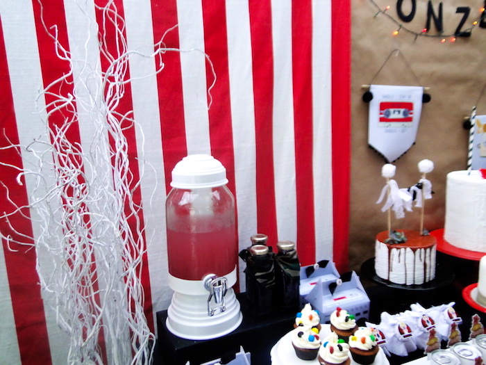 Beverage Table from a Stranger Things Inspired Birthday Party on Kara's Party Ideas | KarasPartyIdeas.com (13)