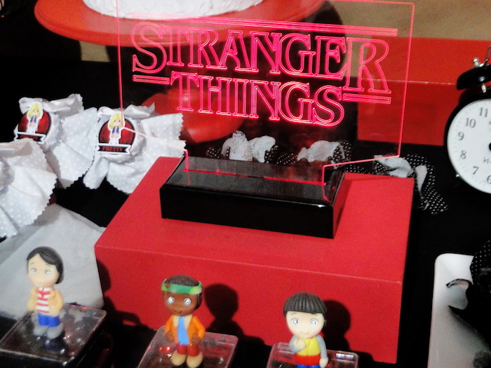 Acrylic Stranger Things Sign from a Stranger Things Inspired Birthday Party on Kara's Party Ideas | KarasPartyIdeas.com (6)