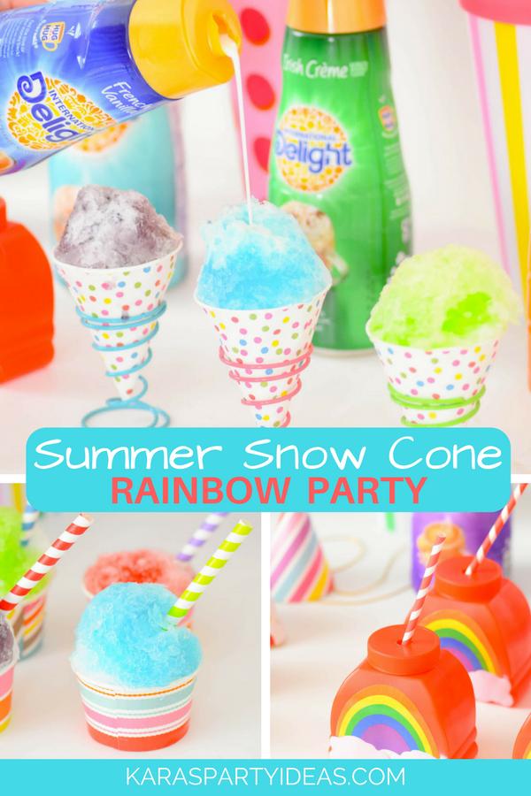 Summer Snow Cone Rainbow Party via KarasPartyIdeas - KarasPartyIdeas.com