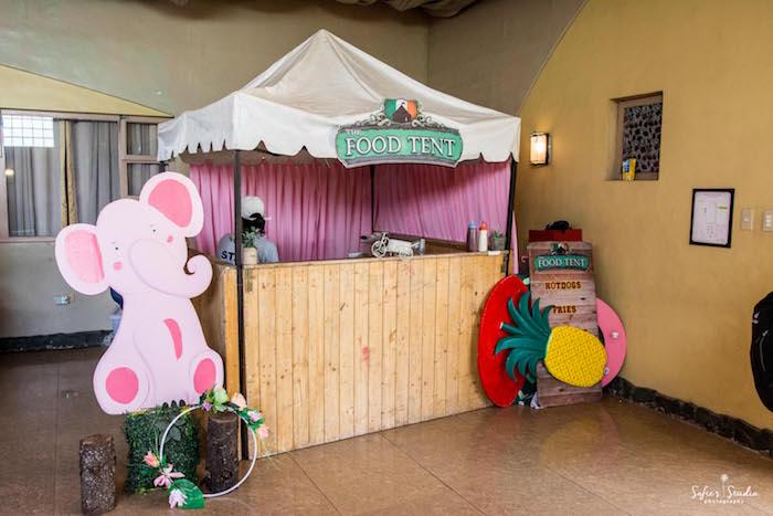 Food Tent from a Tropical Safari Birthday Party on Kara's Party Ideas | KarasPartyIdeas.com (11)