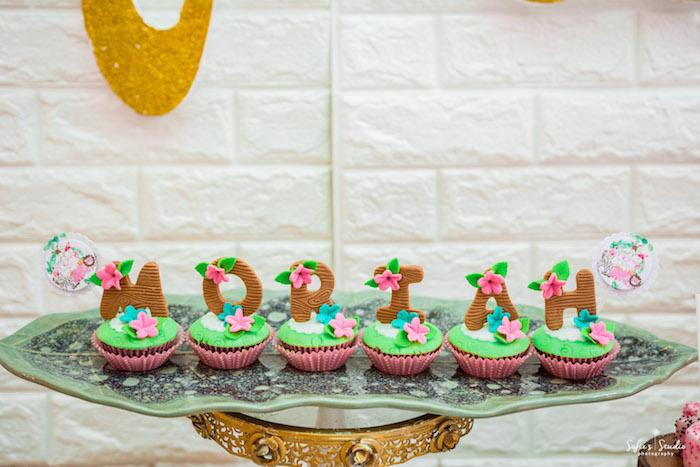 Safari Name Cupcakes from a Tropical Safari Birthday Party on Kara's Party Ideas | KarasPartyIdeas.com (29)