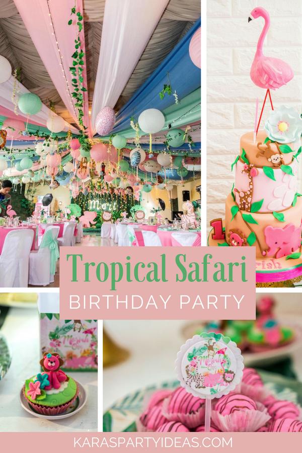 Kara S Party Ideas Tropical Safari Birthday Party Kara S