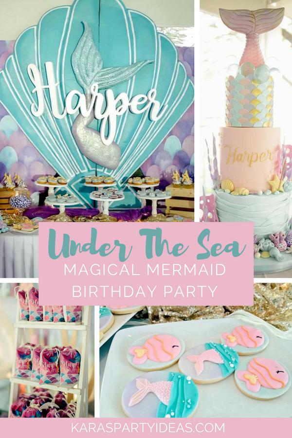Under the Sea Magical Mermaid Birthday Party via Kara's Party Ideas - KarasPartyIdeas.com