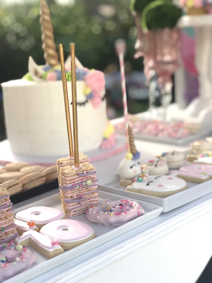 Unicorn Themed Sweets from a Unicorn Birthday Party on Kara's Party Ideas | KarasPartyIdeas.com (6)