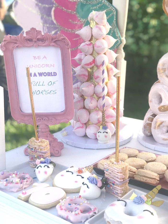Unicorn Themed Sweets from a Unicorn Birthday Party on Kara's Party Ideas | KarasPartyIdeas.com (5)