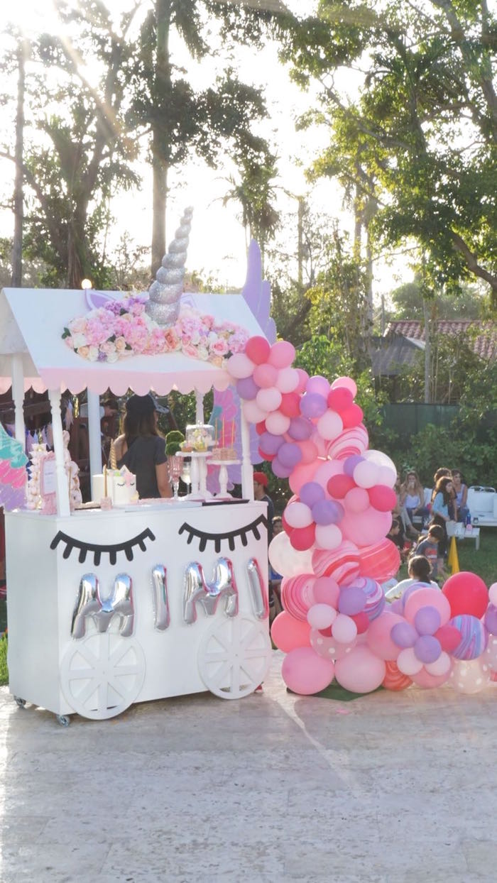 Unicorn Dessert Table from a Unicorn Birthday Party on Kara's Party Ideas | KarasPartyIdeas.com (16)