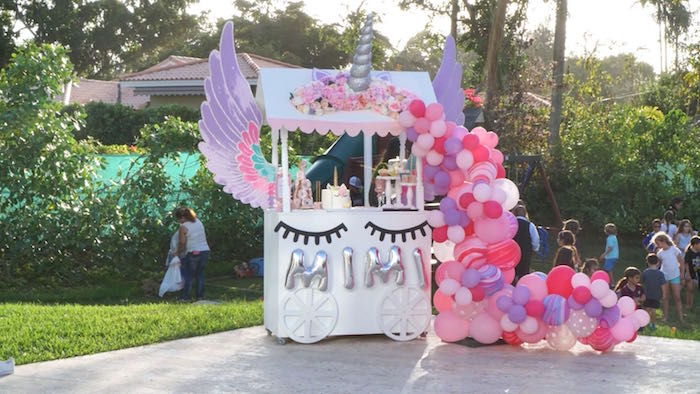Flying Unicorn Dessert Table from a Unicorn Birthday Party on Kara's Party Ideas | KarasPartyIdeas.com (15)