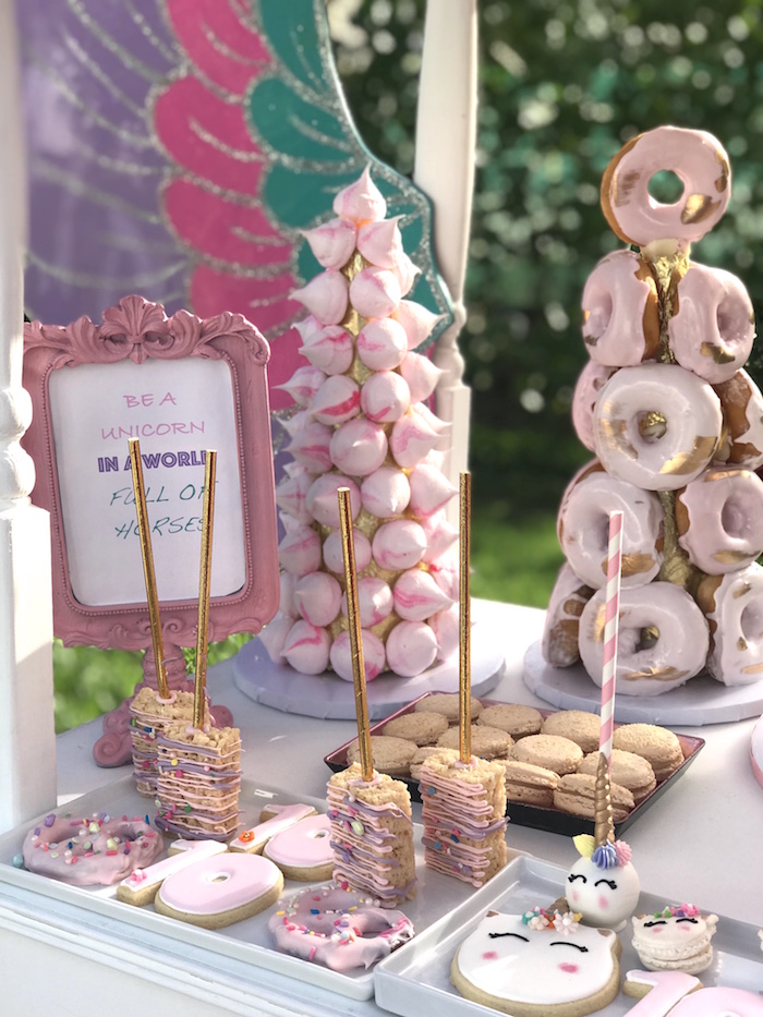 Unicorn Themed Desserts from a Unicorn Birthday Party on Kara's Party Ideas | KarasPartyIdeas.com (10)