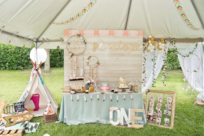 Vintage Boho Birthday Party on Kara's Party Ideas | KarasPartyIdeas.com (21)